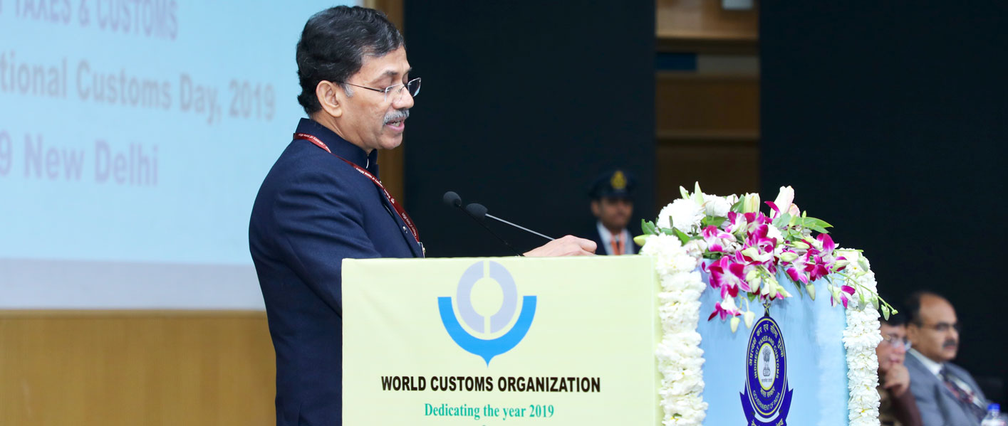 Mr. Pranab Kumar Das, Vice Chair WCO A/P, Chairman CBIC, India, addressing on the eve of International Customs day at Delhi, India